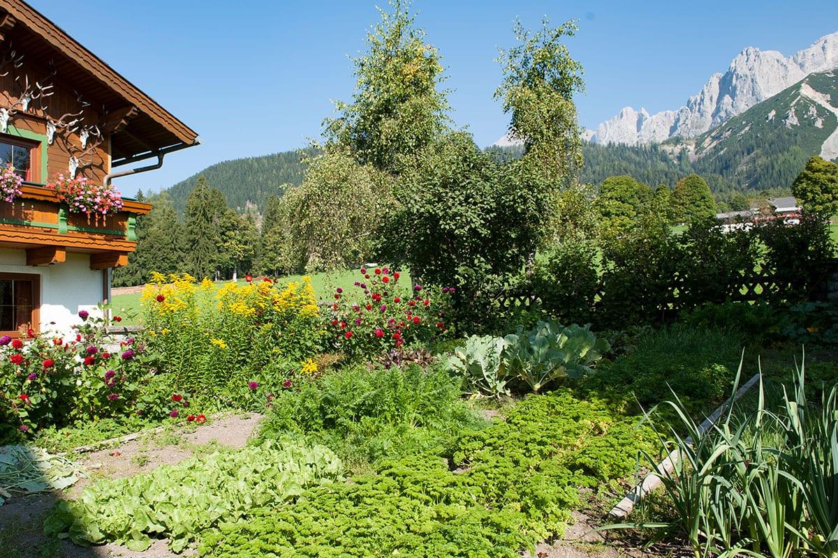 Bauerngarten - Urlaub am Bauernhof in Ramsau, Ferchtlhof