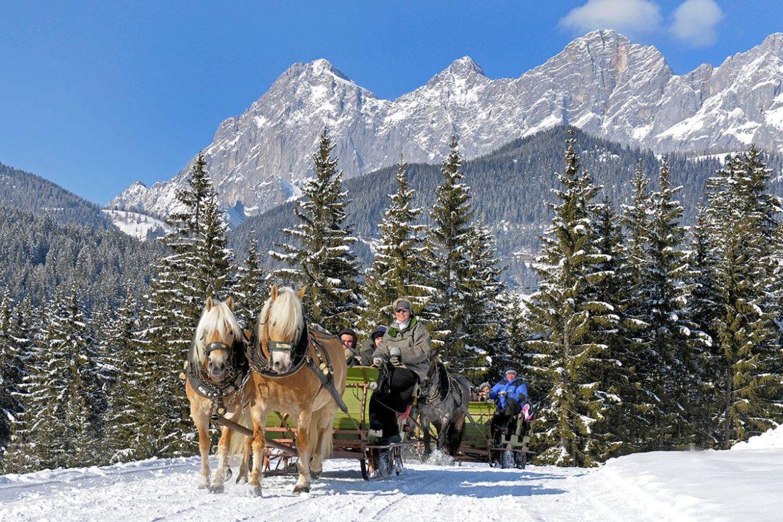 Pferdeschlittenfahrten - Winterurlaub in Ramsau am Dachstein