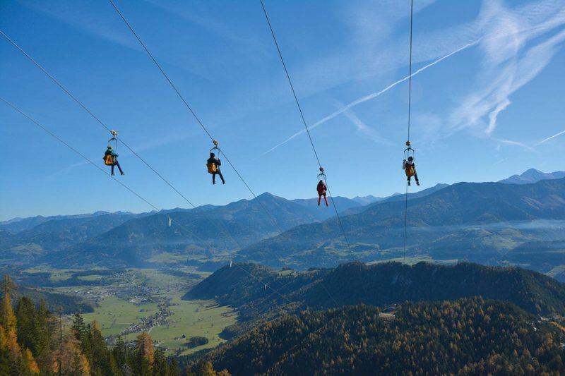 Zipline Stoderzinken - Sommerurlaub in der Region Schladming-Dachstein